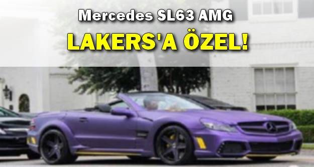 Mercedes SL63 AMG Los Angeles Lakers!